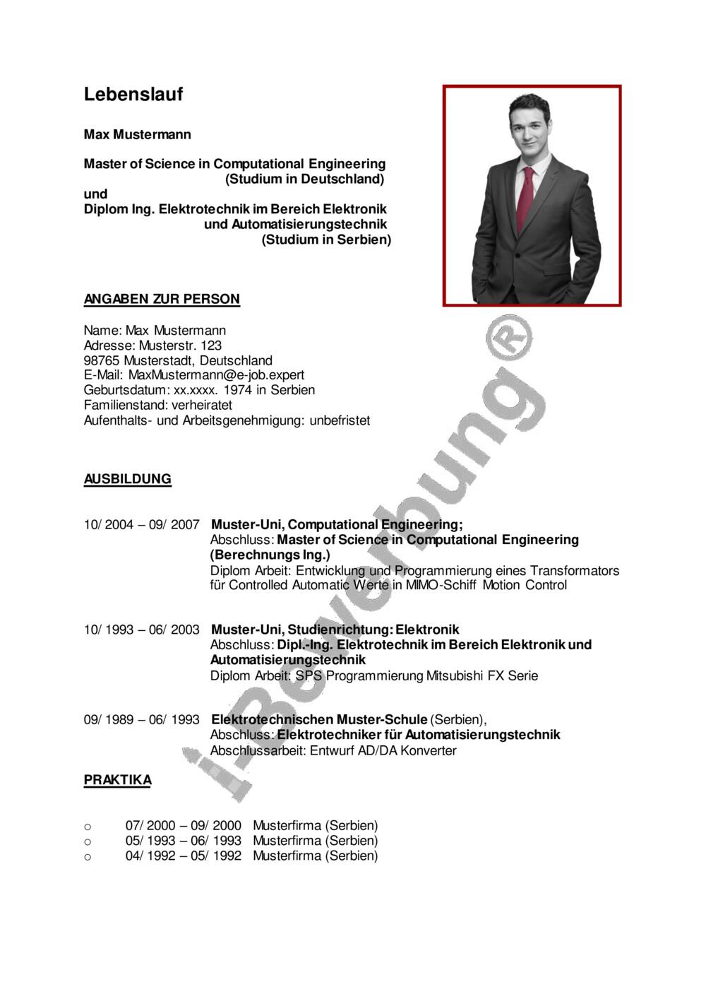 Lebenslauf Vorlagen & Muster ▻ PDF & Word kostenlos downloaden
