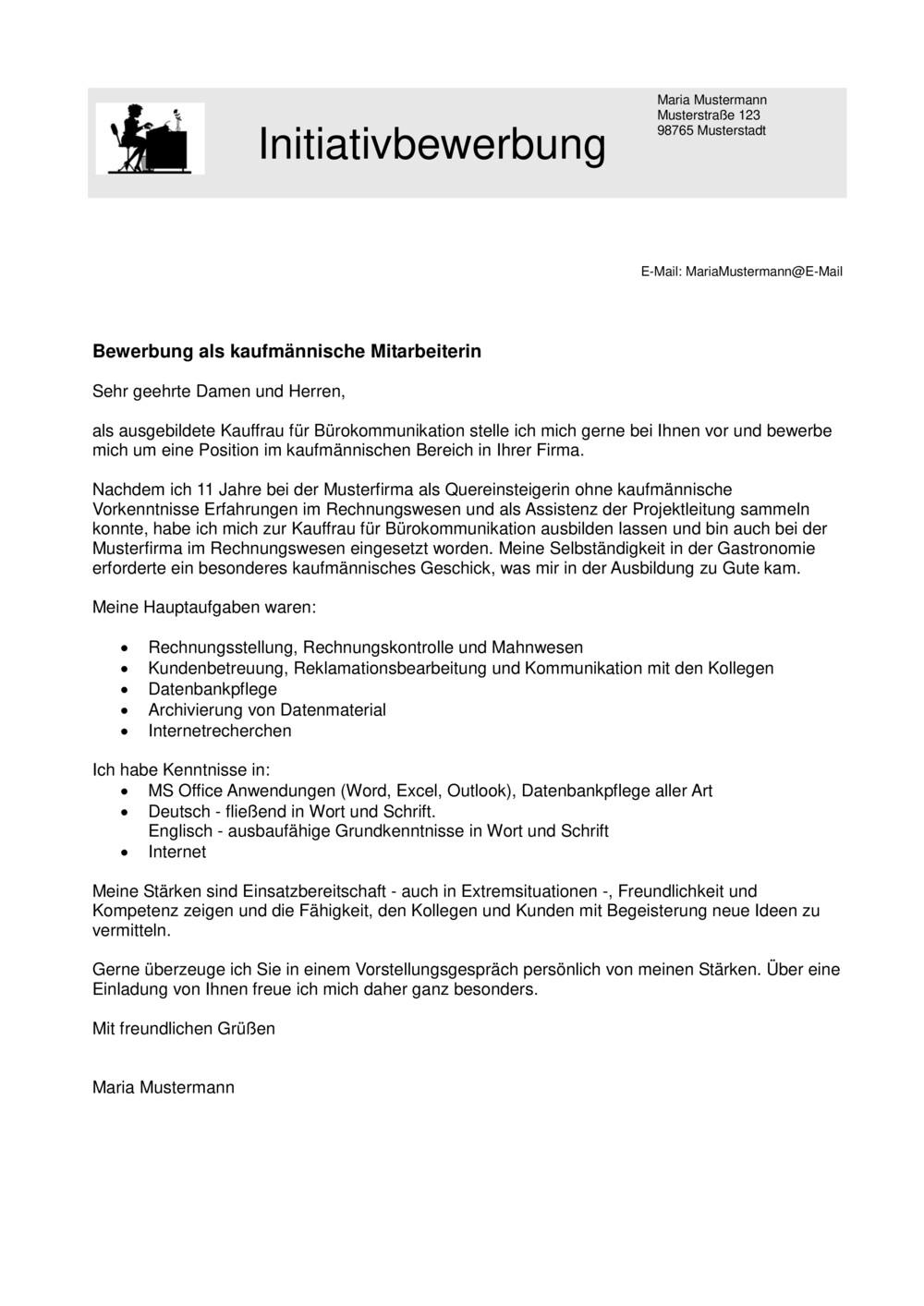 Initiativbewerbung Einleitung Vorlage Tipps Jobguru
