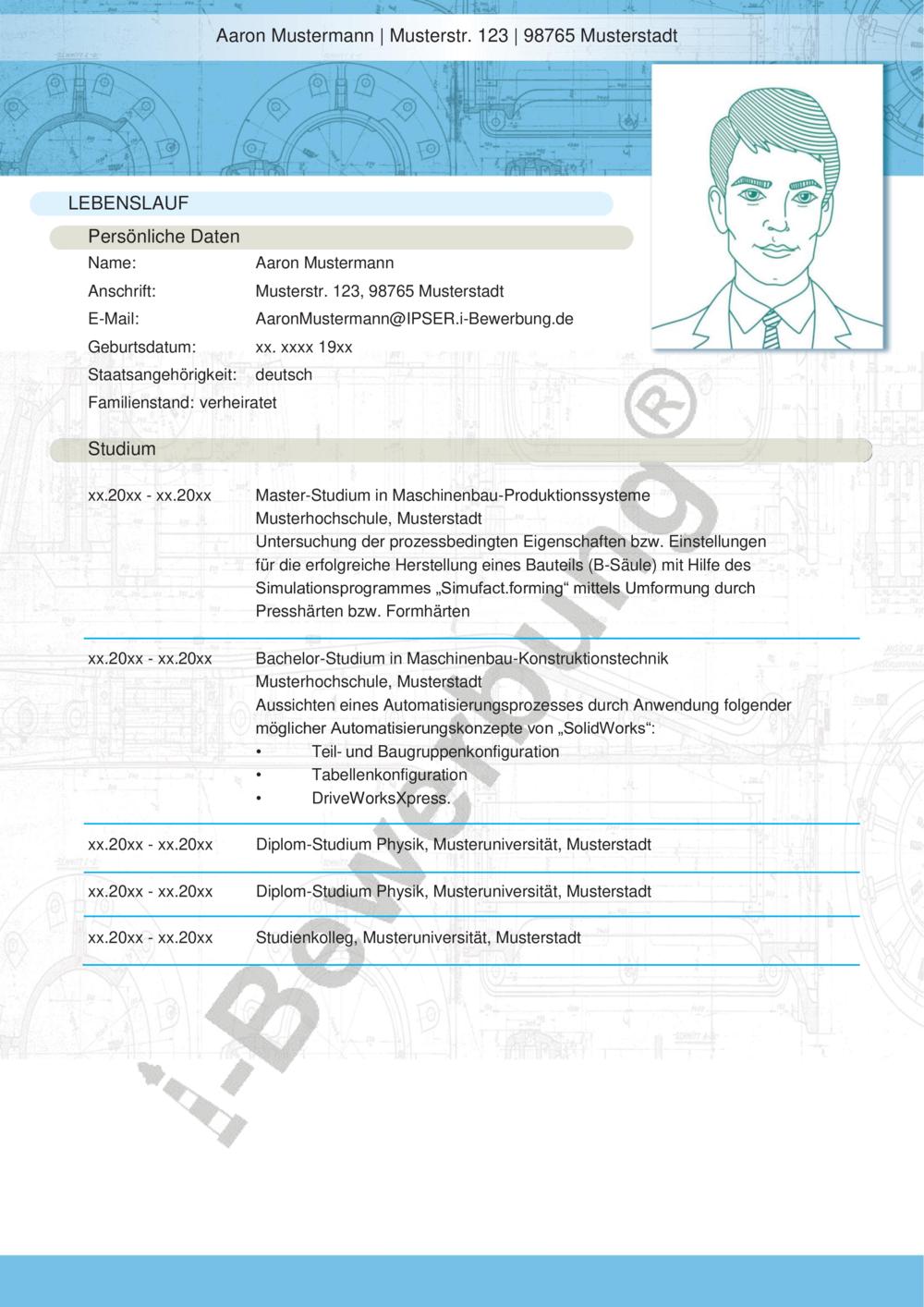 Vorlagen und Muster für den Lebenslauf zur Initiativbewerbung