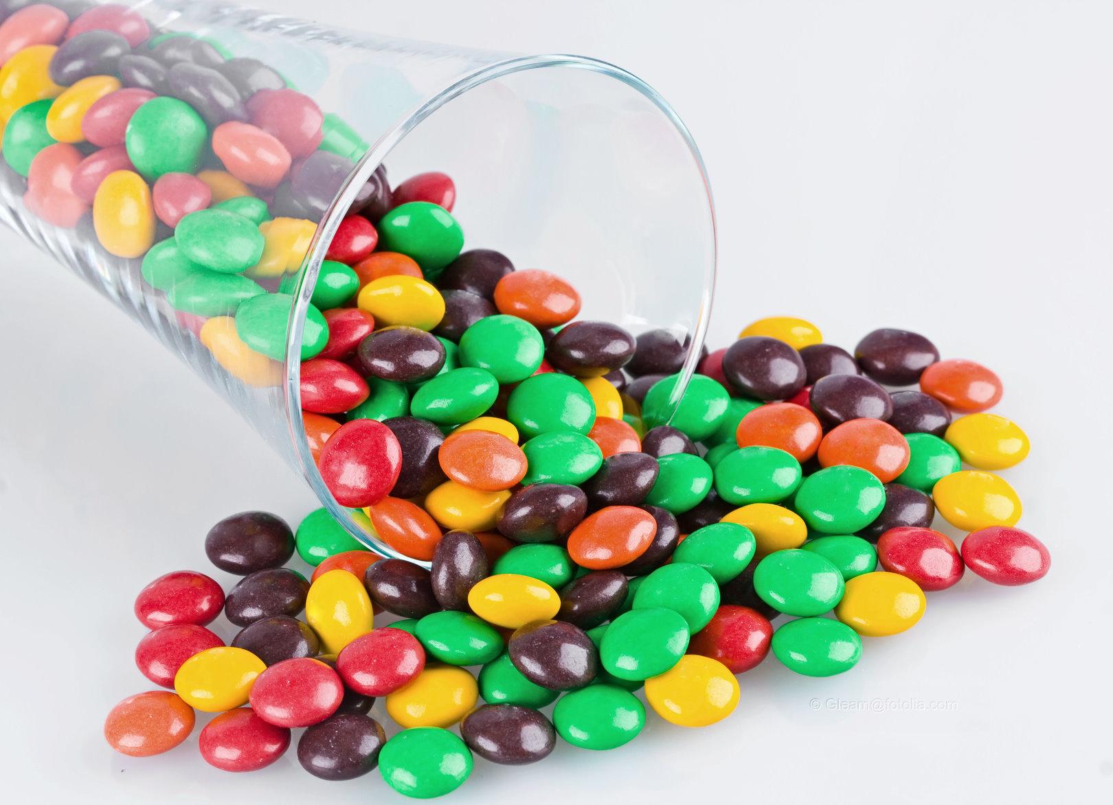 Wie viele Bonbons passen in ein Glas?